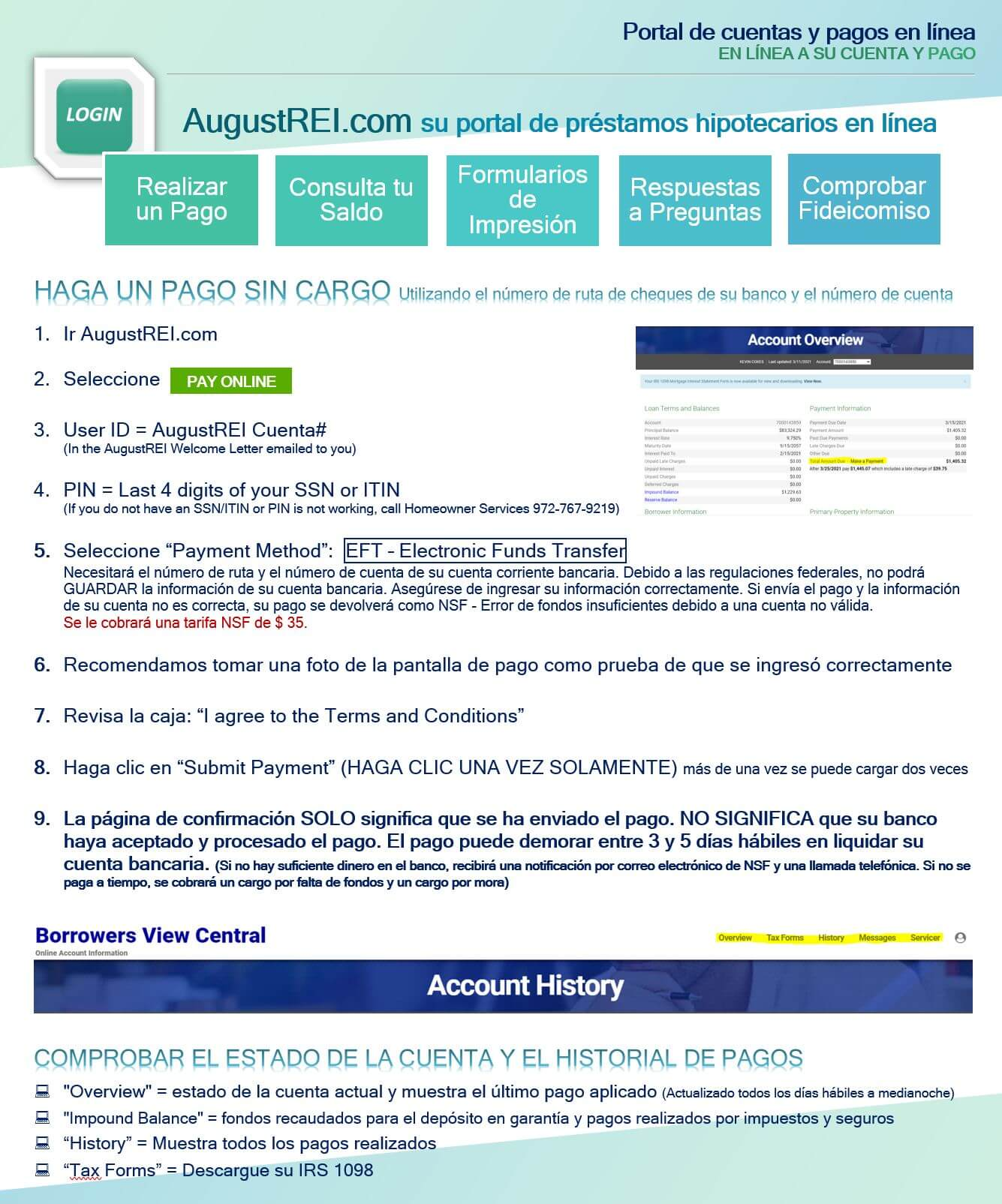 Portal de cuentas y pagos en línea